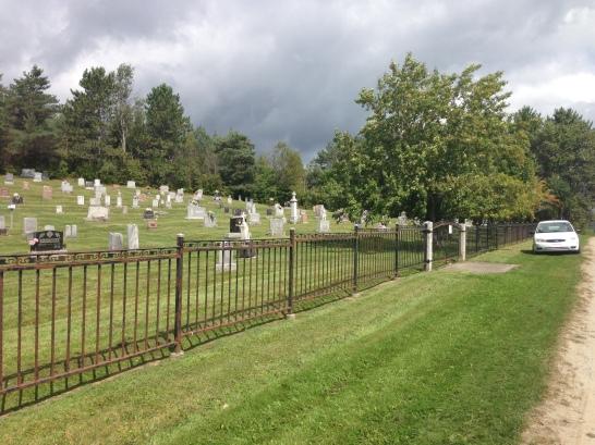 Le cimetière de Scotstown.