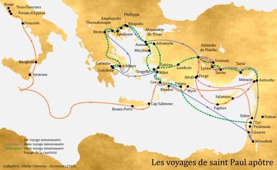 Voyages de saint Paul (couleur)