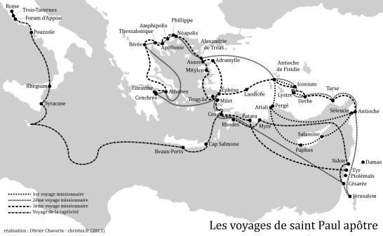 Voyages de saint Paul (monochrome)