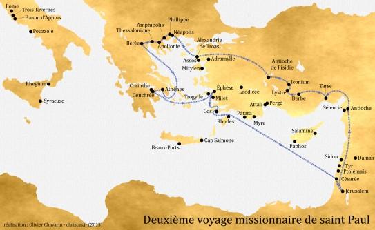 2-deuxième-voyage-missionnaire-de-saint-Paul