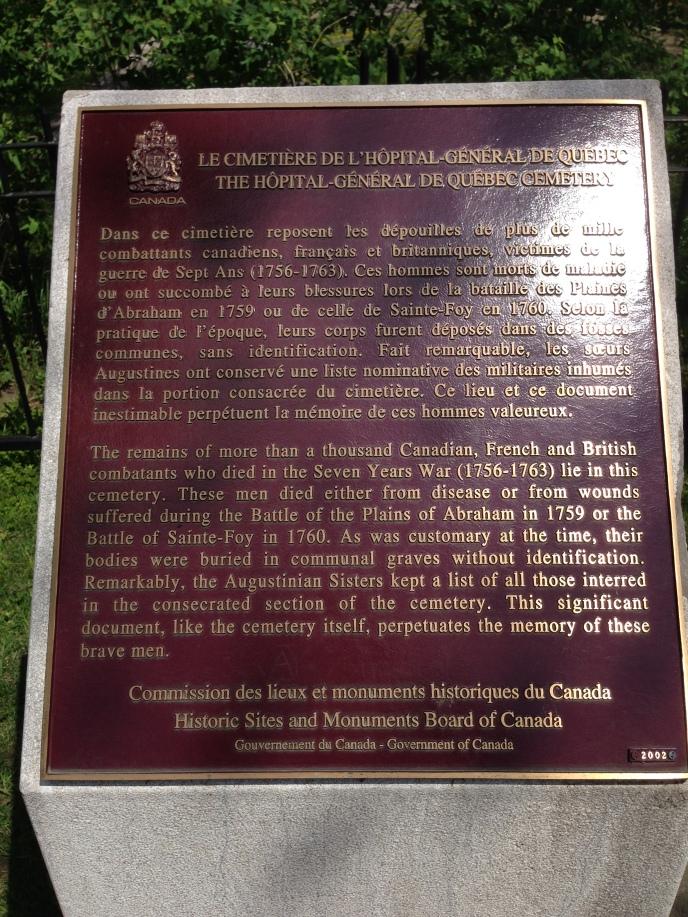 Cimetière de l'Hôpital-Général de Québec (1)