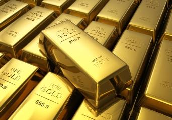 Lingots d'or de 1000 g.
