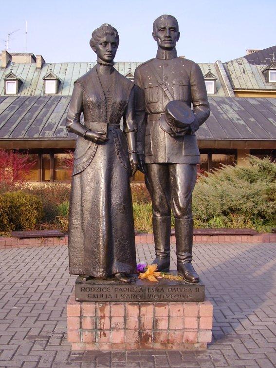 Emilia Kaczorowska (1884-1929) et Karol Wojtyła (1879-1941).