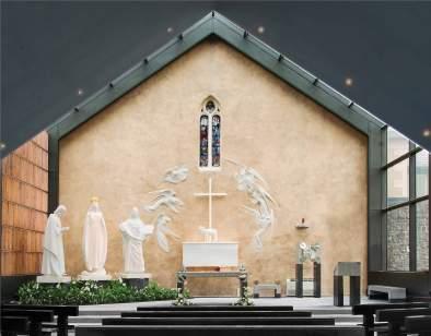 Intérieur de la chapelle de l'apparition.