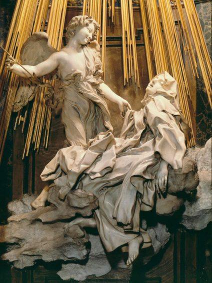 «L'Extase ou Transverbération de sainte Thérèse», du sculpteur Gian Lorenzo Bernini.