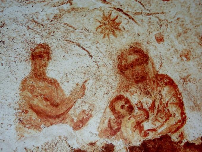 Madonna col Bambino (catacombe di Priscilla) (2)